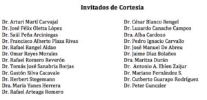 Invitados de Cortesía